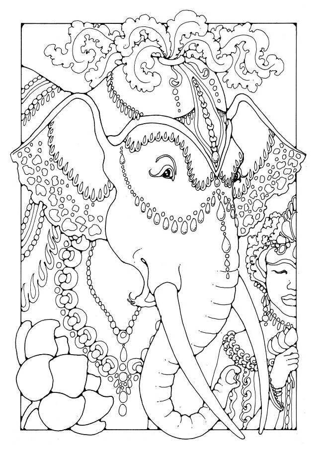 155 best images about Elephant Coloring Pages for Adults