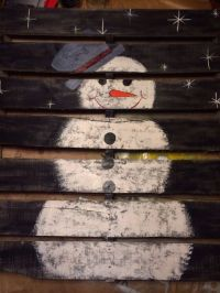 17 Best ideas about Pallet Snowman on Pinterest