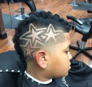 3 star cut design haircuts