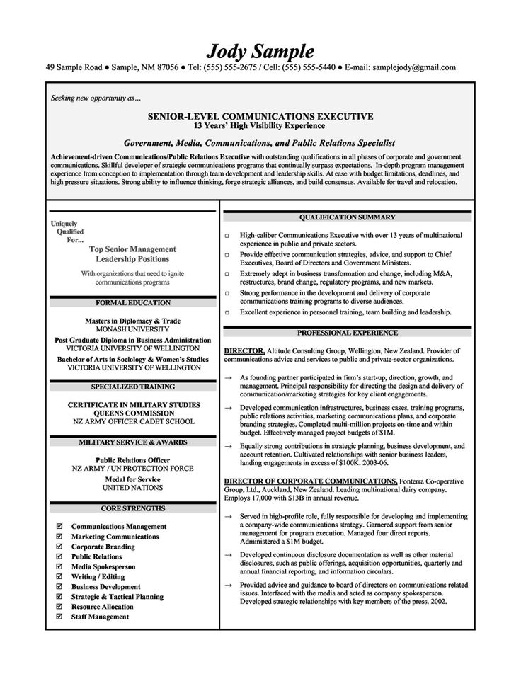 10 best images about Resume Samples on Pinterest  Entry level High schools and Middle school