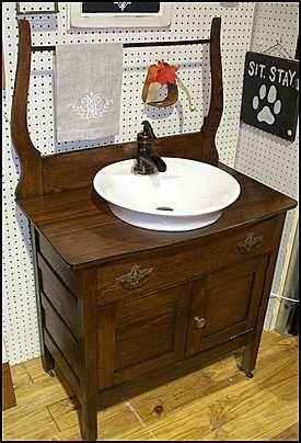 25 best ideas about Antique bathroom vanities on Pinterest  Vintage dressers Dresser bathroom