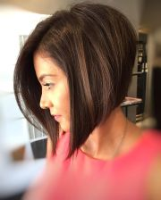 stacked angled bob ideas