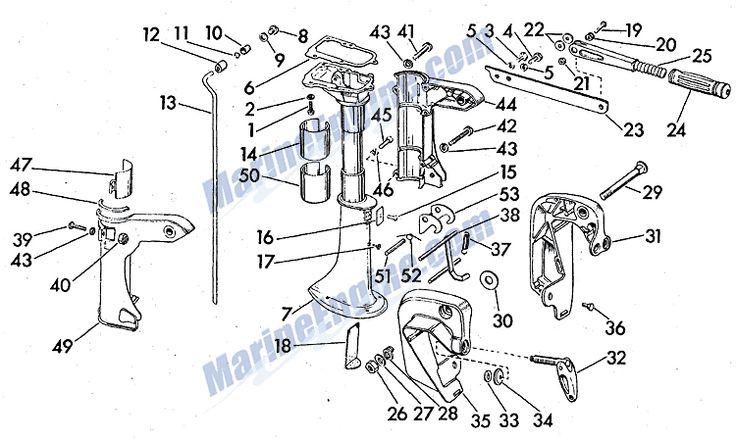 Evinrude Stern Bracket-swivel Bracket-steering Handle