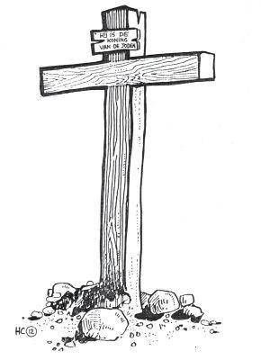 HC 12 Het kruis op Golgotha, tekening bij Zondag 12 van de
