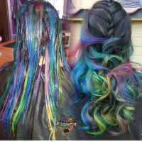 Mermaid hair color by @hairbykoh Rainbow hair color www ...