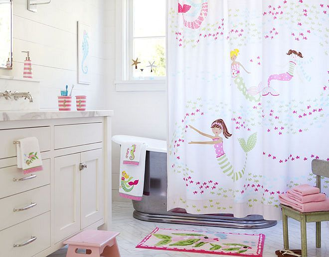 The Mermaid Shower Curtain Is So Adorable. This Is For A