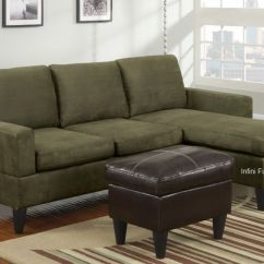 Bobkona Sofa Set Floral Sectional Sage Green Cloth Couch | Small Microfiber ...