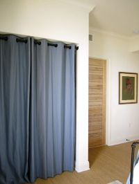 grommet curtains instead of closet doors