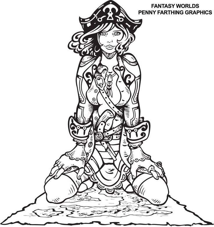 steampunk pin up girls coloring pages for adults sketch
