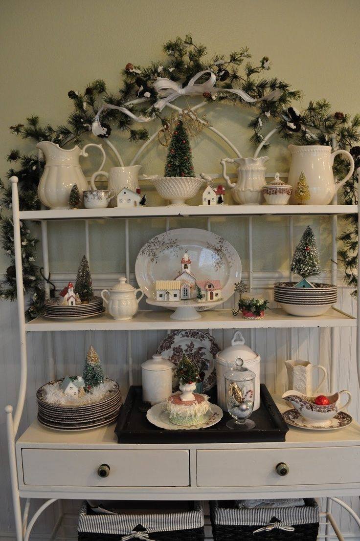 bakers rack decorated  Idea for bakers rack  Decorating