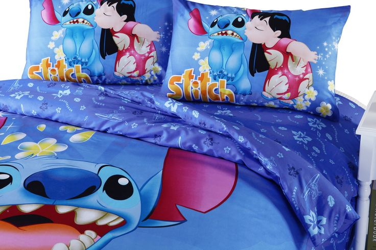 Details About STUNNING DISNEY STITCH TWIN FULL QUEEN 7PC