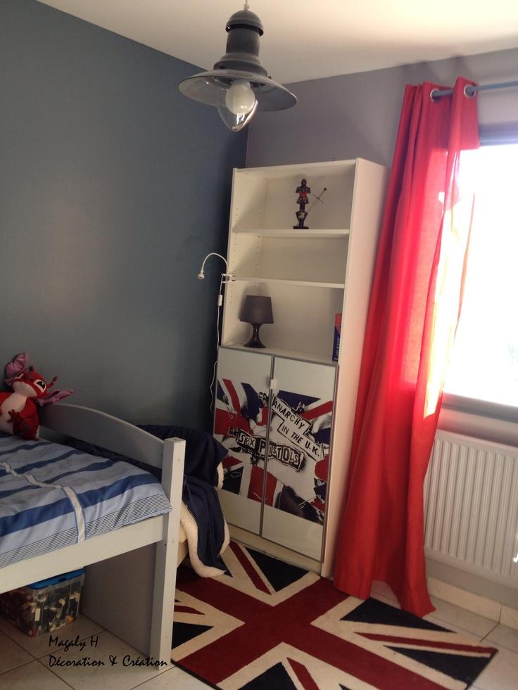Une chambre dado aux couleurs de London   Chambre Fille  Pinterest