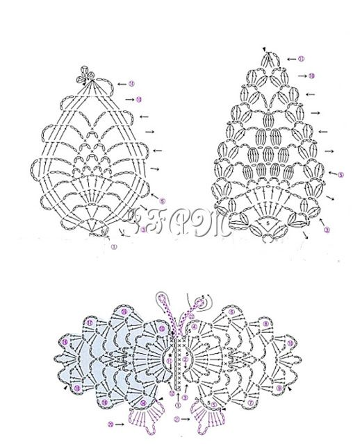 92 best images about Crochet Butterfly's on Pinterest