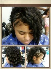 sew wavy hair
