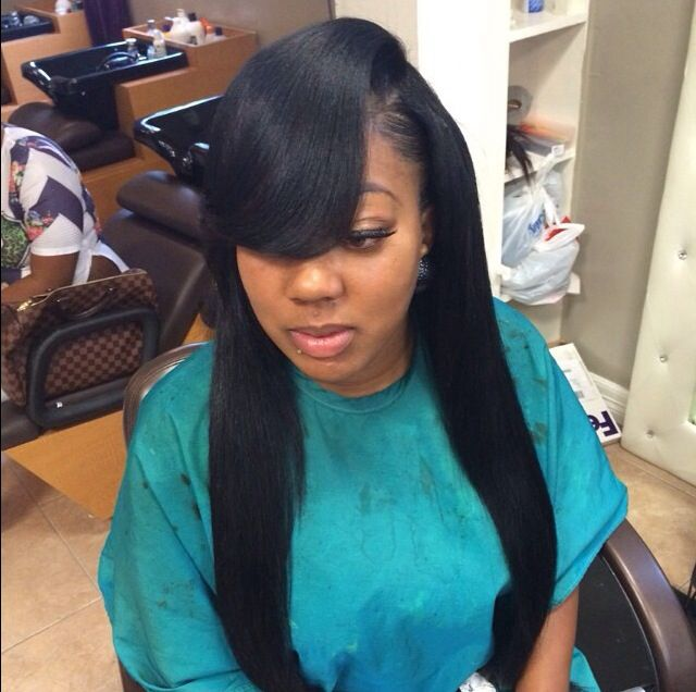 Latest Hairstyle Sew In Hairstyles With Side Bangs Inspiring