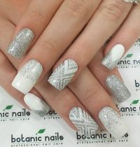 1000+ ideas about Silver Nail Art on Pinterest | White And ...