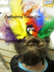 thanksgiving turkey hair style