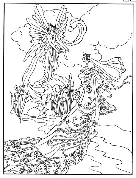 Dover Pages Fairy Tales Coloring Pages