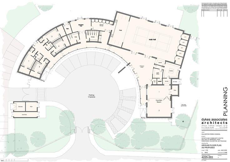 Community Center Floor Plan Design