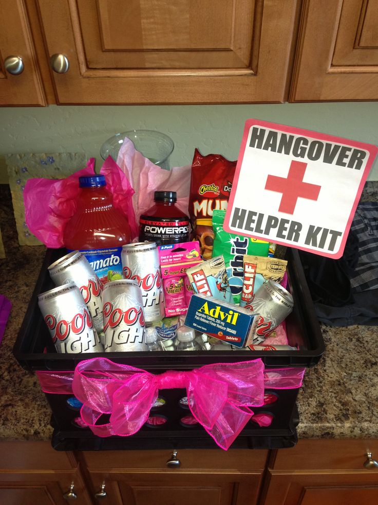 21st Birthday Hangover Recovery Kit DIY Crafts