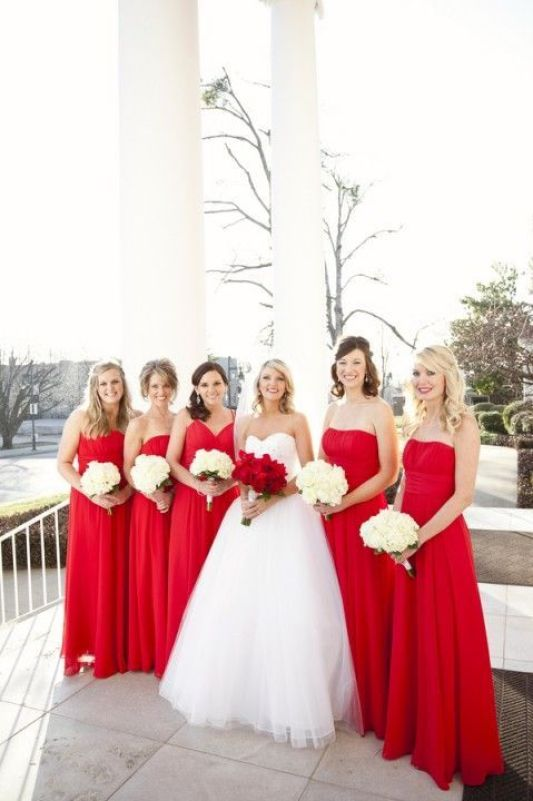 37 Sparkling Ideas for Red Themed Wedding: