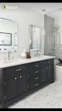 25+ best ideas about Dark cabinets bathroom on Pinterest