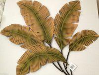 Banana/Palm Leaves Decorative Metal Wall Art | Tropical ...