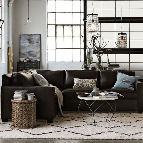 West Elm living room Gray sectional sofa  Home Sweet