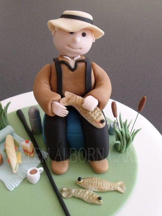 Fisherman Cake Toppers Pinterest Fisherman Cake
