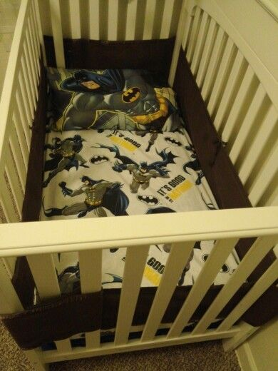 Batman Crib Bedding Custom Fit From A Twin Size Bedding