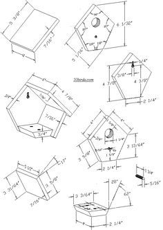 17 Best ideas about Bird House Plans on Pinterest  Building bird houses Diy birdhouse and