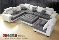 5PC NEW MODERN GREY MICROFIBER BIG SECTIONAL SOFA SET