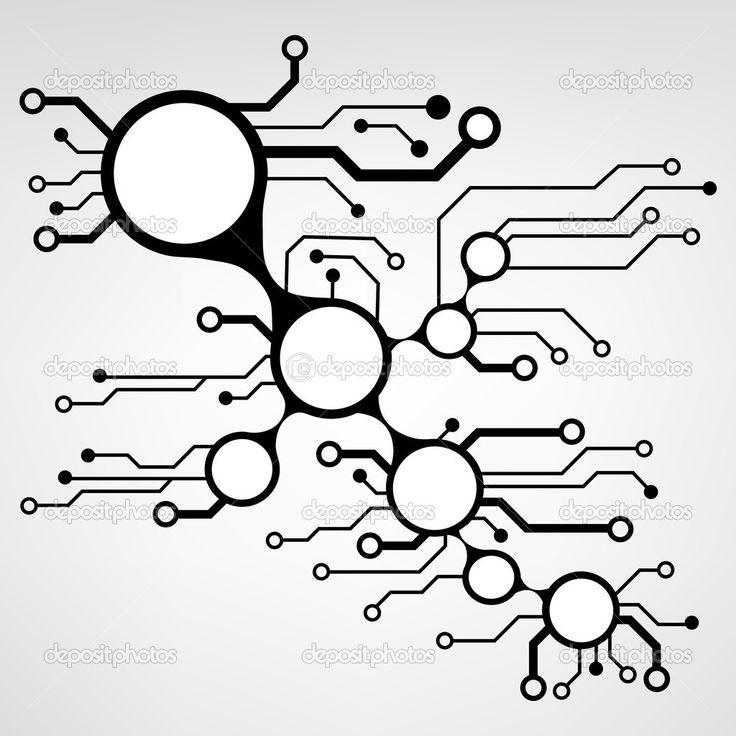 circuit board necklaces techno party ideas pinterest