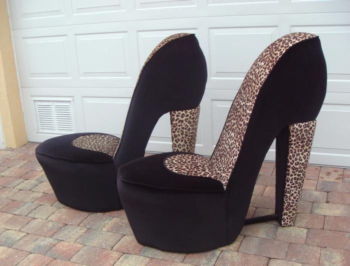 HighHeelChairsforSale  Buy 2 Leopard High Heel Shoe