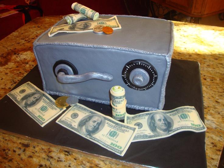 Bank Safe Money Cake Melissa S Fine Cakes Pinterest