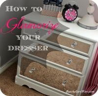 dresser makeover with MIRRORED CONTACT PAPER | Furniture ...