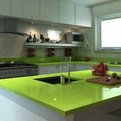 Space Saver Kitchen Design Amazon Appliances Green Countertop With White Cabinets | Gran's Kitch ...