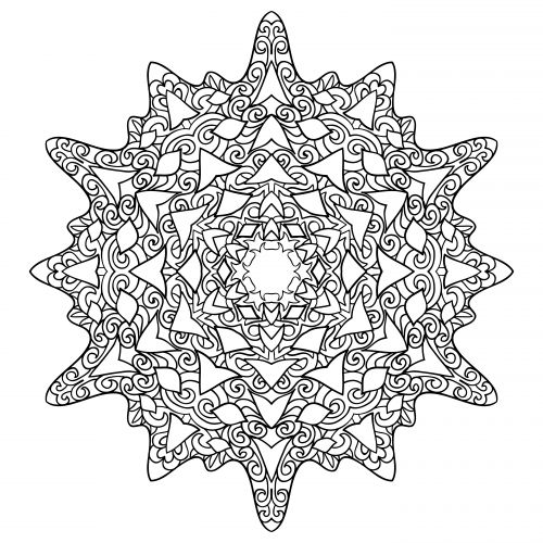 17 Best images about Advanced Christmas Coloring on