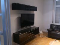 Floating IKEA TV bench (Besta Burs model) Thanks to /r/DIY ...