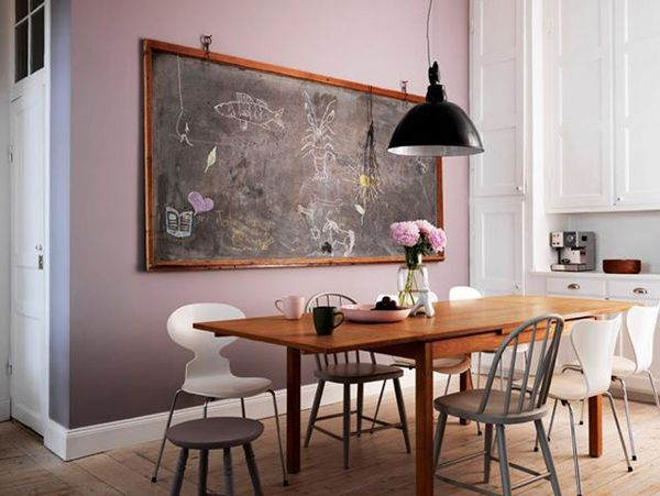 Love This Old School Room Chalk Board In Kitchen With
