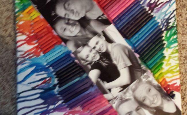 Boyfriend Gift Crayon Canvas Trish Daisys Dots