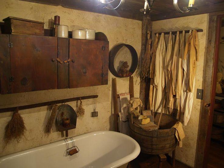Old farmhouse bathroom  Simply Primitive Antiques  Lets