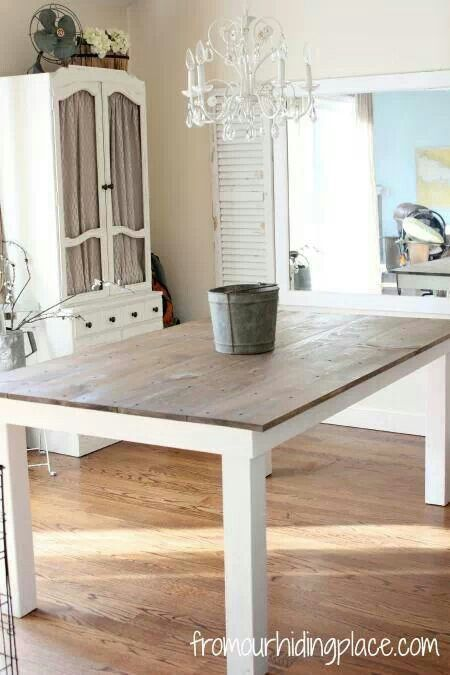 Kitchen Table Wood Top With White Legs Kitchens Pinterest Kitchen Tables The Ojays And Tops