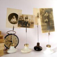Vintage door knob photo holder wedding table number holder ...