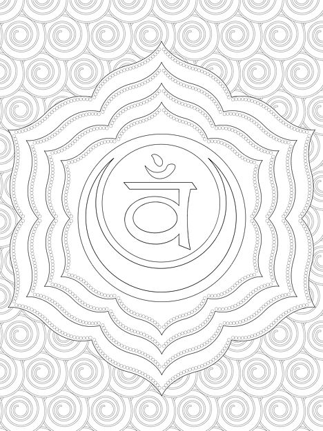 20+ Crown Chakra Coloring Pages Adults Ideas and Designs