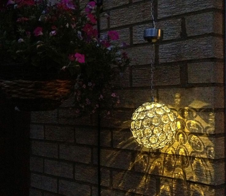 Aria Solar Hanging Crystal Ball Light Photo taken by