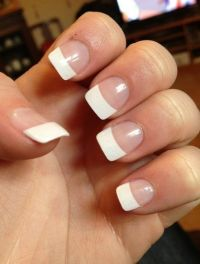 17 Best ideas about White Tip Acrylic Nails on Pinterest