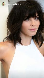 bangs medium hair ideas