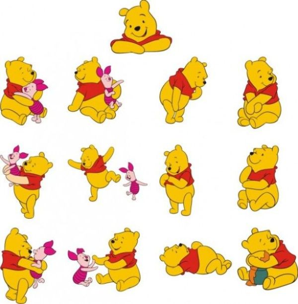 winnie pooh vector material