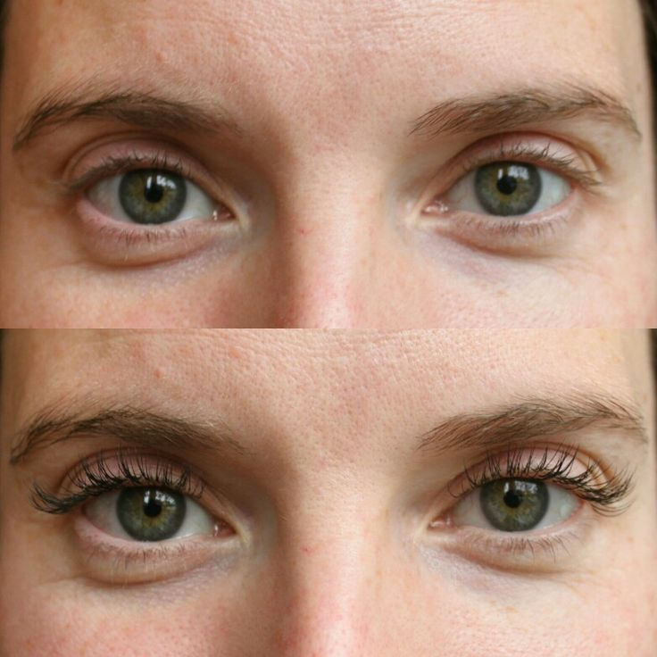 Before  After Natural lashes to a natural Full Set of